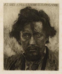 Portret van Willem Kloos (1859-1938)