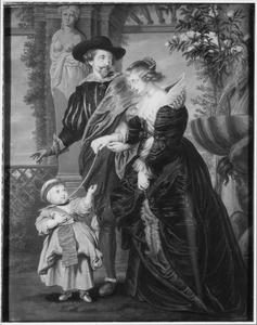 Familieportret van Peter Paul Rubens (1577-1640), Hélène Fourment (1614-1673) en Peter Paul Rubens (1637-1684)