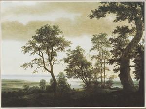 Rivierlandschap met bomen