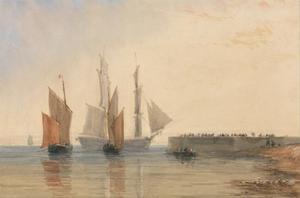 Ingang tot de haven van Calais
