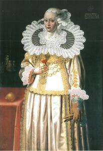 Portret van Margareta Broemse, geboren Köhler