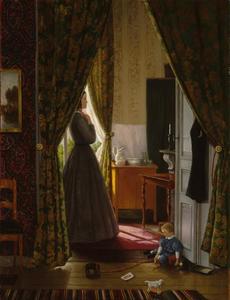 Vrouw en kind in interieur
