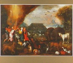 Noachs dankoffer na de zondvloed (Genesis 8:20)