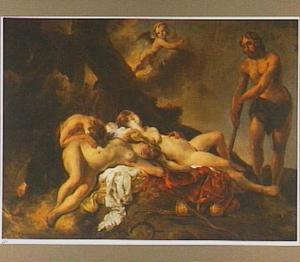 Cimon bespiedt de slapende Iphigenia (Boccacio, Decamerone, 5de dag, 1)