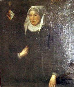 Portret van Titia Tritzum, echtgenote van Gerbrand Ornia