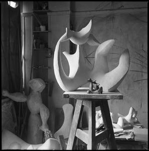 Het atelier van Henri Laurens in de Villa Brune 2-bis in Parijs, najaar 1947