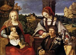 Maria en kind met Maria Magdalena en stichter