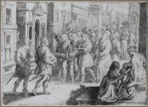 Koning Saul sluit zich aan bij een groep musicerende profeten
