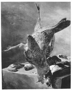 Stilleven met een dode kip