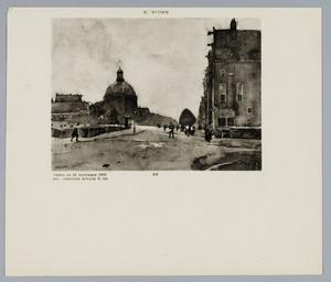 Gezicht op het Singel met de ronde Lutherse kerk