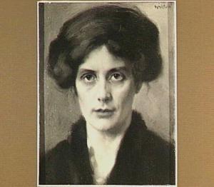 Portret van Augusta Frederica Albertina Saltet (geb. Nieuwer-Amstel 1879). In 1905 gehuwd met  Mr. Jean Franciscus van Royen