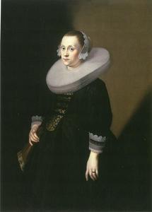 Portret van de vrouw van de raadsapotheker Heinrich d'Erberfeld