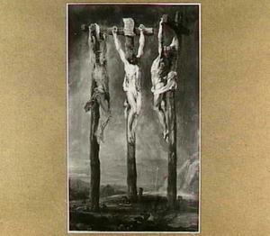 Christus aan het kruis tussen de twee moordenaars