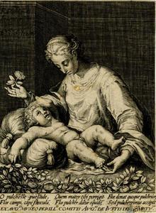 Madonna met een roos