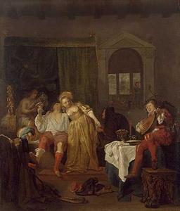 De verloren zoon bij de hoeren (Lucas 15:13-14)