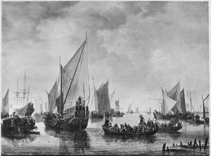 Vlootschouw voor Dordrecht door Frederik Hendrik, in 1649
