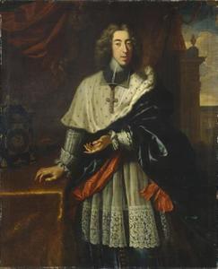 Portret van Clemens August van Beieren, aartsbisschop van Keulen (1671-1723)