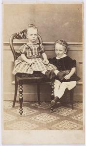 Portret van Sara Kips (1864-1965) en Jan Hendrik Valckenier Kips (1862-1942)