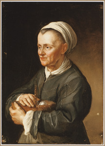 Vrouw met een eiermand