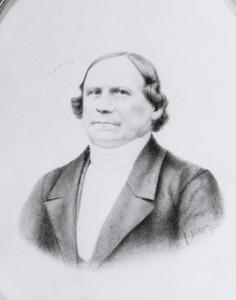 Portret van ds. Friedrich Wilhelm Bornscheuer (1806-1882)