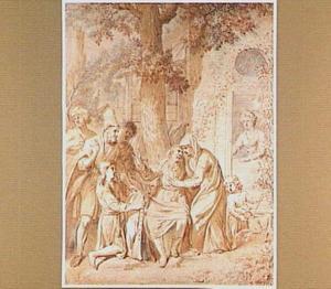 Jacob ontvangt Jozefs bebloede rok (Genesis 37:33)
