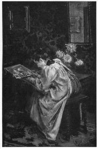 De kunstenaar in haar atelier