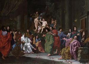 Inwijding van een lid van de Schildersbent in Rome (?)