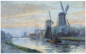 Windmolens in de buurt van Dordrecht