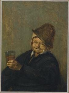 Boer met een glas