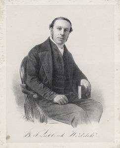 Portret van Bartholomeus Theodorus Lublink Weddik (1801-1862)