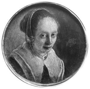 Portretminiatuur van een vrouw, mogelijk Cornelia Bosman echtgenote van de schilder Albert Cuyp