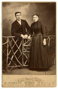 Portret van Johannes Marie Antonius Alexander Bauer (1872-?) en Johanna Allegonda Jacoba Koot (1869-1902)
