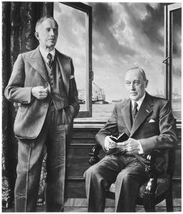 Portret van John Wells van Beuningen (1880-1967) en Frederik Hendrik Fentener van Vlissingen (1882-1962)