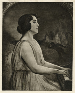 Portret van de pianiste Eleanor Spencer