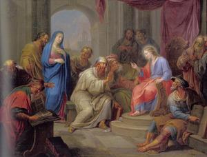 De twaalfjarige Jezus disputerend met de schriftgeleerden