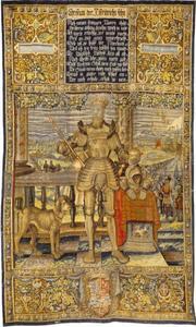 Christian III (1503-1559) met op de achtergrond het beleg van Kopenhagen