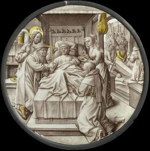 Het bezoeken van een zieke (een van de Werken van Barmhartigheid)