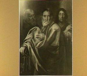 Drie apostelen, waaronder de H. Petrus