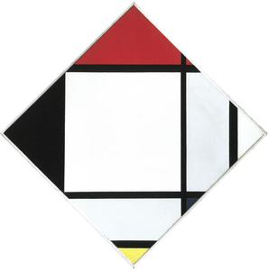 Lozenge composition with red, black, blue, and yellow