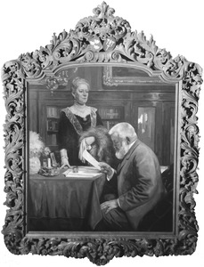 Dubbelportret van Elie van Rijckevorsel (1845-1928) en Jacoba Elisabeth Kolff (1852-1935)