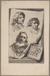 Portretten van Jan Lievens (1607-1674), Palamedes Palamedesz. (1605-1638) en Erasmus Quellinus (1607-1678)