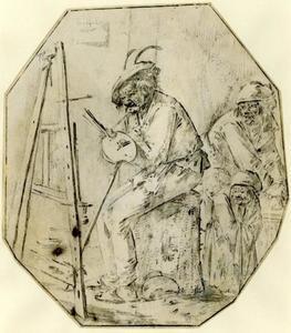 De arme kunstenaar en zijn familie