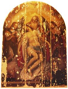 De heilige Drie-eenheid, met een portret van de opdrachtgever