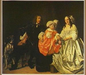 Portret van de familie van Pieter van de Venne (1623-1666) en Anna de Carpentier (1631-1700)