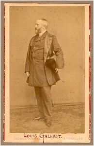 Portret van de schilder Louis Gallait (1810-1887)