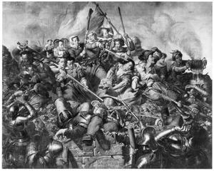 Kenau Simonsdr. Hasselaer en de vrouwen van Haarlem tijdens de verdediging van de stadswallen tegen de Spanjaarden (1572-1573)