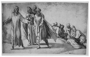 Christus met zijn leerlingen op de Olijfberg (Mattheus 26-30:56)