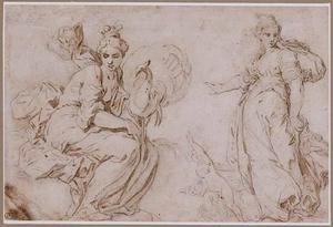 Juno en twee vrouwenfiguren