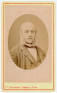 Portret van Jacobus Henricus Cornelis van der Kun (1813-1878)