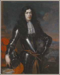 Portret van een man in een harnas
